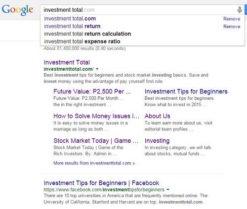 make sitelinks appear in google search
