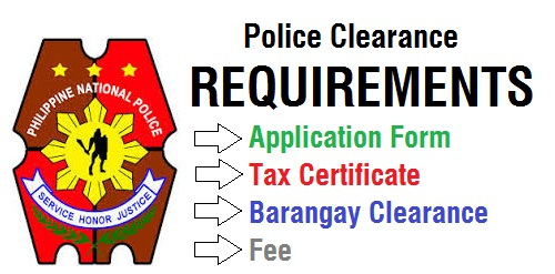 requirements for police clearance