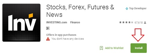 investing.com app on google play