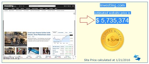 investing.com website price is 5 million dollars