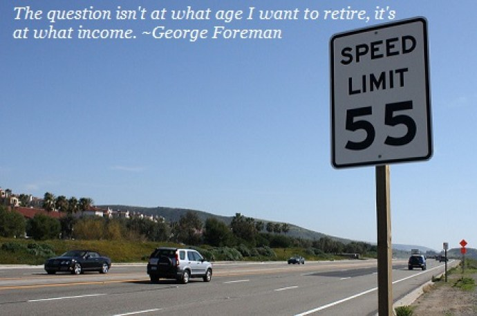 retire at 55 on a nice road
