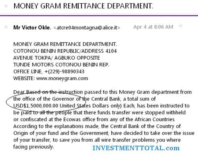 money gram email phishing