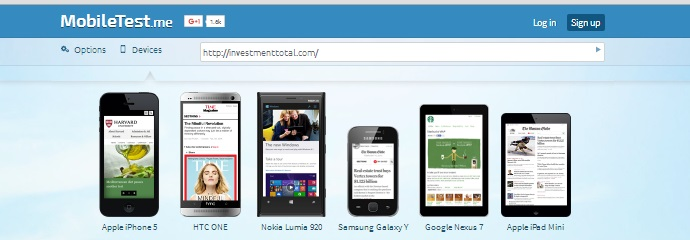 responsive web design online testing tool