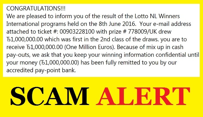 International Lottery Scams from Netherlands