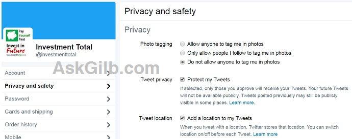 How to Change Twitter Settings and Privacy?