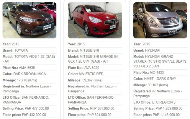 Psbank Repossessed Cars For Sale Philippines Northern Luzon Pampanga