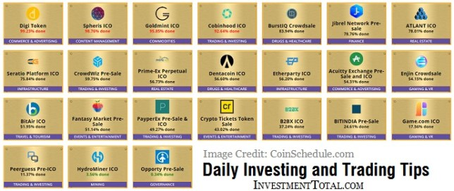 ICO cryptocurrency list