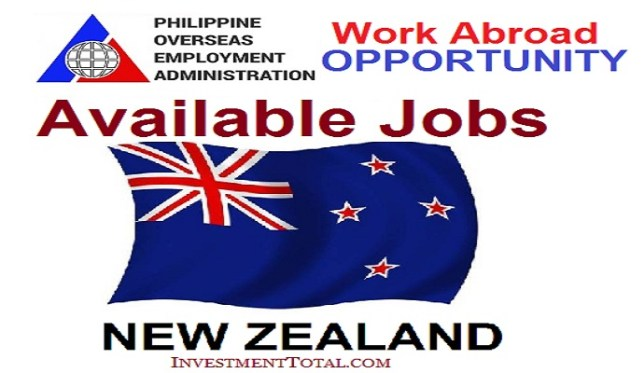 jobs in new zealand poea