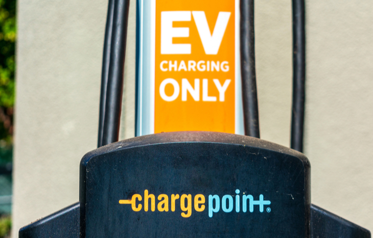 chargepoint stock forecast charging station