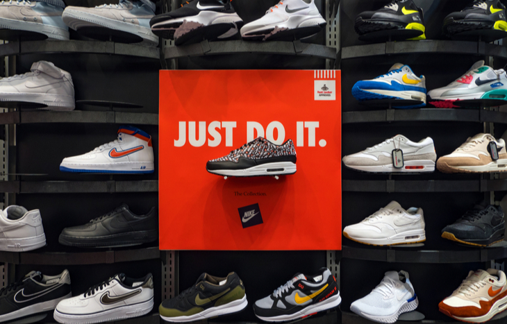 nike stock forecast and shoe sales