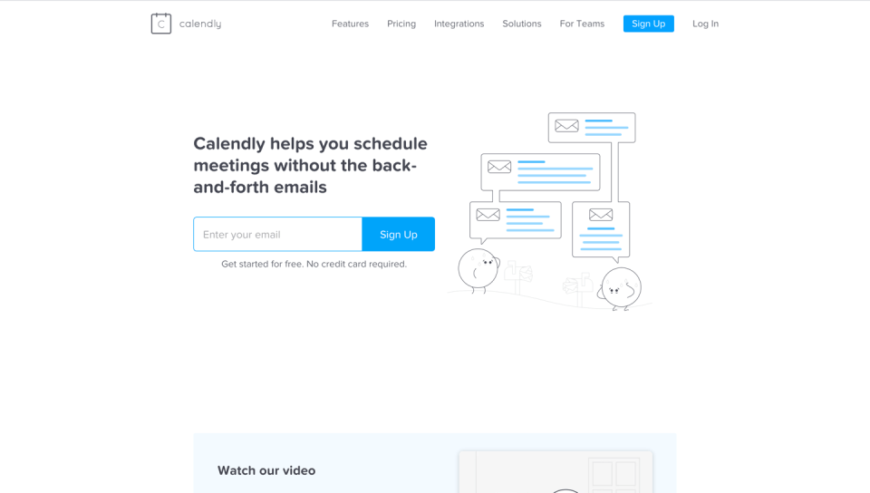 Calendly homepage screenshot
