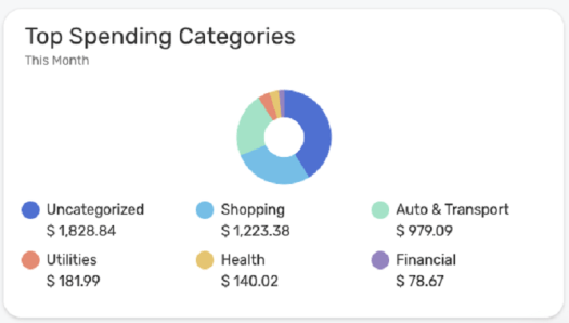 Simplifi by Quicken automatically tracks your spending by category, but it needs some training to get accurate results.