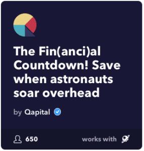 qapital ifttt astronaut countdown