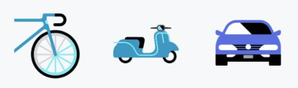 ubereats bike scooter car