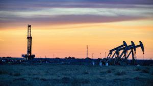 Immagine di un olio depositato nel bacino del Permiano.