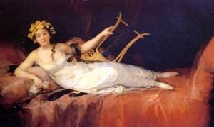 The Marquesa of Santa Cruz as a Muse, Francisco De Goya, 1805