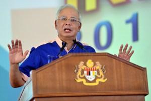 Najib Razak podium