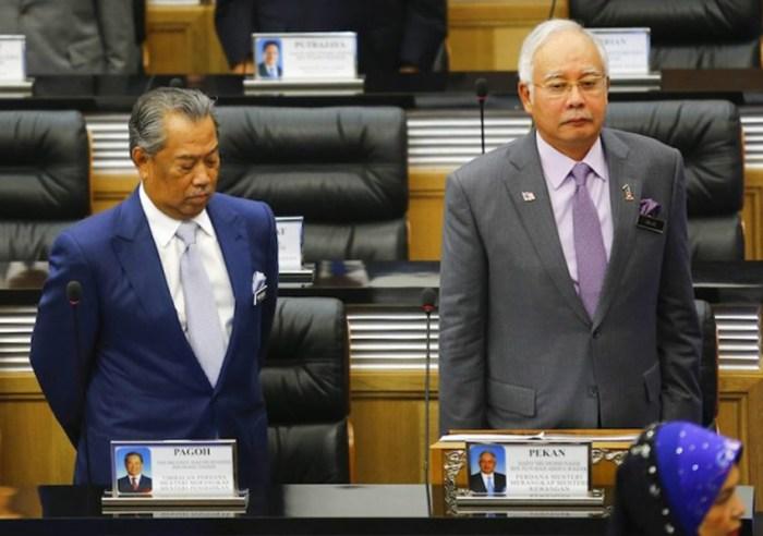 Najib Razak with Muhyiddin Yassin