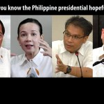 Philippine presidential election, 2016: Get to know the contenders