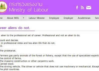 Careers aliens do not + whore dust: Thainglish at its finest