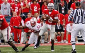 10-10-2009: the game between Wisconsin and Ohio State at Ohio Stadium, in Columbus, Ohio