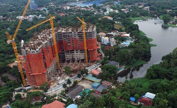 Royal Inya Palace Yangon under construction