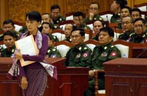 Aung-San-Suu-Kyi-in parliament