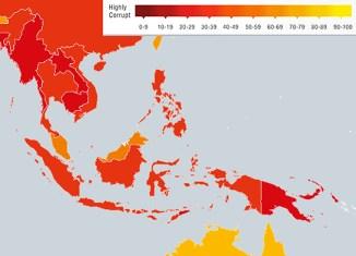 Corruption still widespread in Southeast Asia