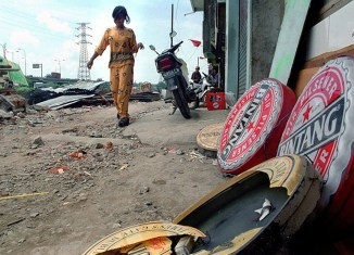 Gone with a bang: Lights out in Jakarta's largest red-light district