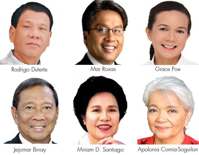 Philippine election candidates