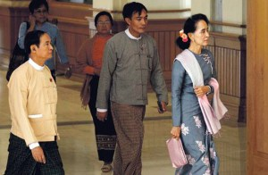 Suu Kyi in parliament