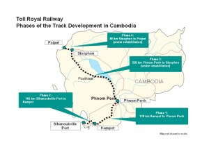 Cambodia railway map