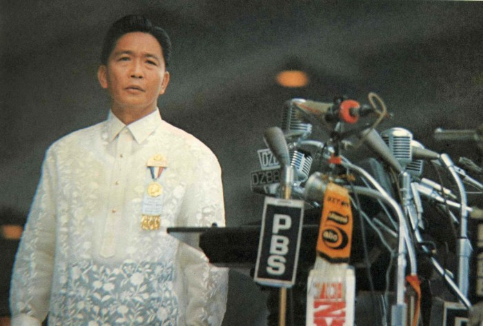 Ferdinand Marcos - The late dictator proclaimed martial law in 1972 - Gov stats cite data including 75,730 persons who filed their claims before the Human Rights Victims' Claims Board for violations of their rights by the state during martial law. 3,240 victims of salvage or extrajudicial killings, an average of about 50 summary executions every year between 1976 and 1978 alone.