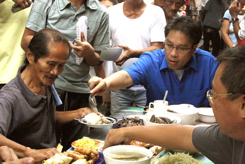 Liberal Party (LP) presidential candidate Mar Roxas