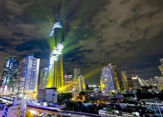 Thailand's tallest tower opens amid spectacular light show