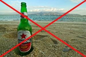 Bintang on the beach
