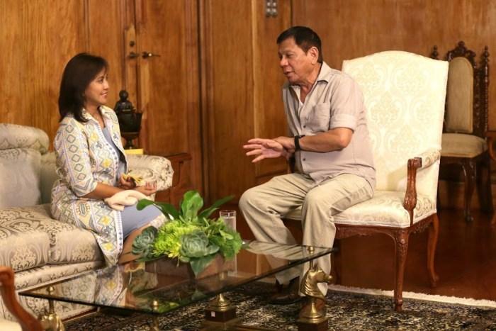Happier Times - Vice President Leni Robredo visits President Rodrigo R. Duterte at the Malacañan Palace (KING RODRIGUEZ/ Malacañang Photo Bureau)