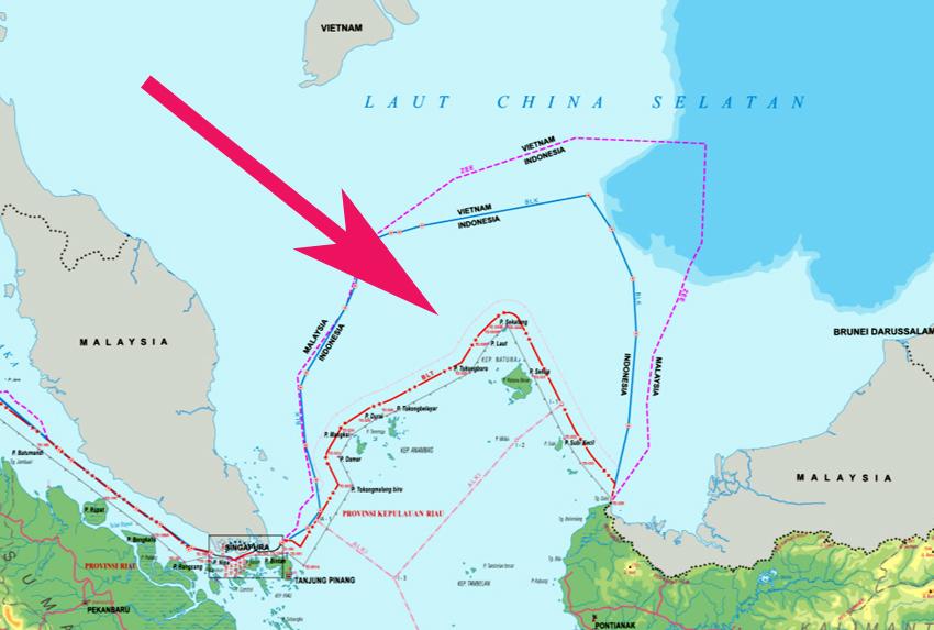 "Indonesia declares ""North Natuna Sea"" – China: ""Totally meaningless"""