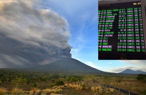 Almost 60,000 stranded under the volcano as Bali airport shuts down