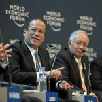 Aquino beats the big drum in Davos