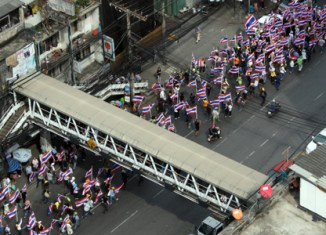 Anti-government protests spread in Bangkok