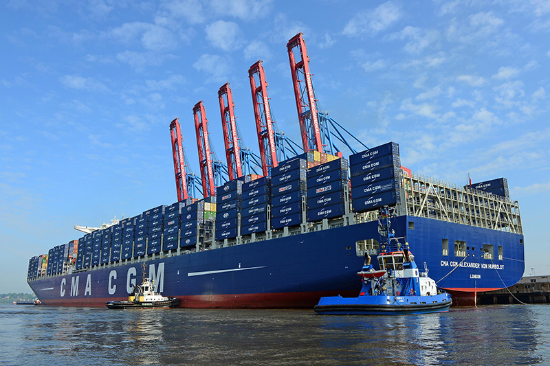 Biggest ship sets sail to Asia (video)
