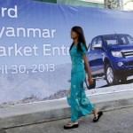 Ford rolls into Myanmar's car market