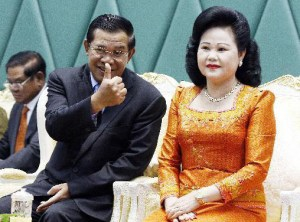 Hun Sen and wife