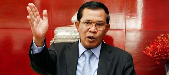Cambodian PM mocks US threat