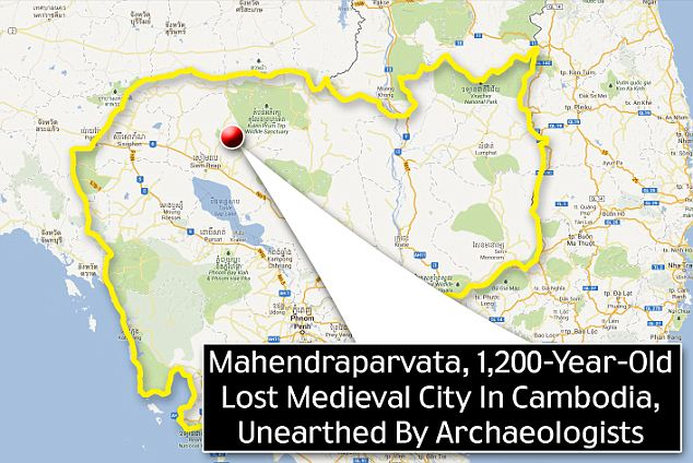 Lost ancient city found in Cambodia