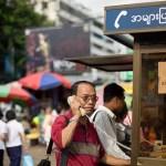 Myanmar has the lowest mobile phone penetration worldwide behind North Korea