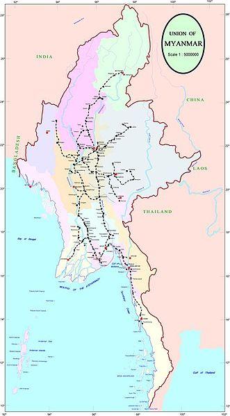 Tran Asian Railway Map