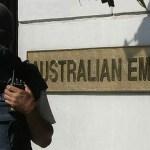 Australian flags burn in Indonesia