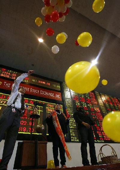 Philippine bourse breaks record mark